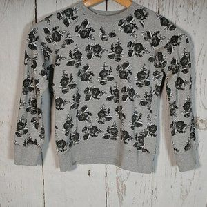 The North Face Gray Floral Printed Sweatshirt